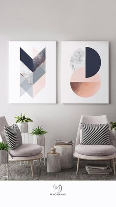 Canvas art prints. 🌸😌 From minimal line drawings to elaborate geometric and abstract art. What's your favourite? :)