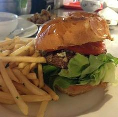 A Delicious CHEESEBURGER at RED HOUSE CAFE! Lots of enticing toppings for you to choose from such as Avocado, Bacon, Crumbled Blue Cheese,  Cheddar Cheese, Jack Cheese,  Caramelized Sweet Balsamic Onions, and more...www.facebook.com/redhousecafepacificgrove