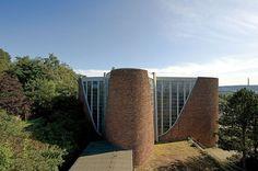 Moderngermanpostwarmodern: Church St Maria Königin (1956-59) in Saarbrücken, Germany, by Rudolf Schwarz