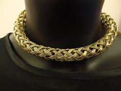 Handmade bronze color unique twisted necklace by OMyGlam on Etsy