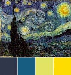 Starry Night Colors for Bedroom- perhaps the master br?