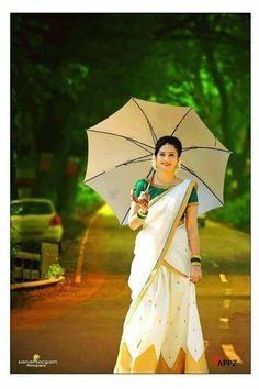 Kasavu lehanga- Whatsapp on 9496803123 for customisation of handwork sarees and dresses. Lehanga Saree, Kasavu Saree, Half Saree Lehenga, Saree Dress, Silk Sarees, Kerala Saree Blouse Designs, Half Saree Designs, Kerala Traditional Saree, Kerala Engagement Dress
