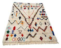9'X5' ft / Handmade Moroccan rug Beni Ourain 100 Percent Wool / Azilal Rug / Boucherouite Rug / Beni Ouarain / Moroccan Kilim