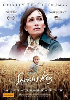 Sarah's Key (aka Elle s'appelait Sarah) 2010 Movie Poster - French film that alternates between 1942 and 2009 and tells of an American journalist's present day investigation into the Vel d'Hiv Roundup of Jews in German Occupied Paris in 1942.
