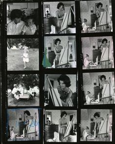 collage of photos of the kennedy family #JFK