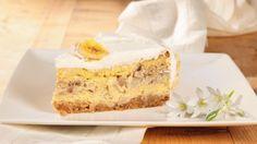 Cheesecake alle banane aromatizzate al rum