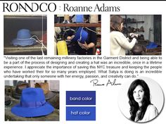 roandco roanne adams designed a limited edition collection hat for our kcikstarter campaign. it's gorgeous!