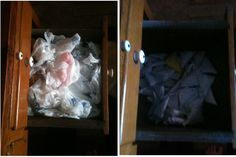 This took all of 30 minutes to do 75 bags!  I can't believe how much more room I have in that drawer now...