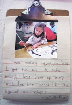Involve children in reflecting upon and documenting their own learning processes