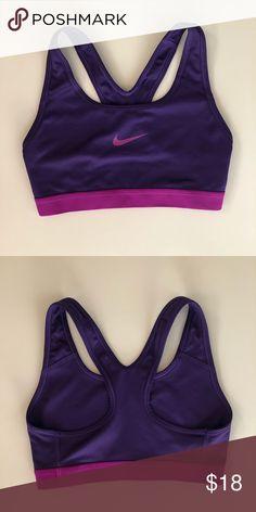 d660d441f8 Purple Nike Women sports bra Nike women s sports bra Hardly warn  Comfortable Great condition  )