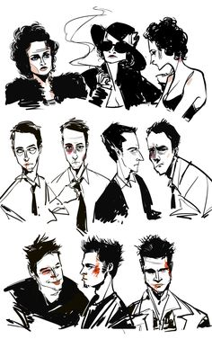 Fight club character sketches