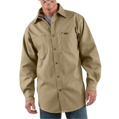 Classic Canvas Shirt Jac - The Brown Duck
