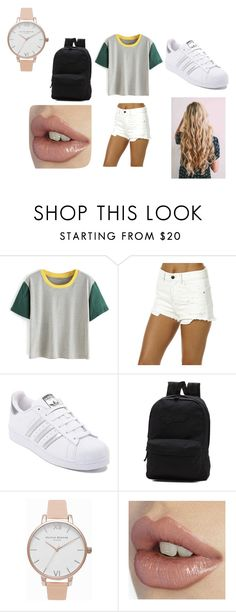 """""""Eva outfit for school"""" by sophiestyles2010 on Polyvore featuring Billabong, adidas, Vans and Olivia Burton"""