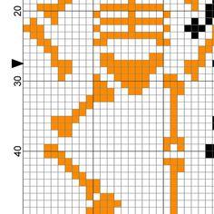 Skele-dancers PDF Cross Stitch Pattern por DailyCrossStitch en Etsy