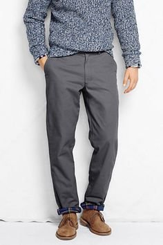 Men's Holiday Flannel Lined Chino Pants from Lands' End