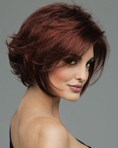 Dark Chocolate Cherry Hair Color | Envy Lace Front Angie Monofilament TopsEnvy
