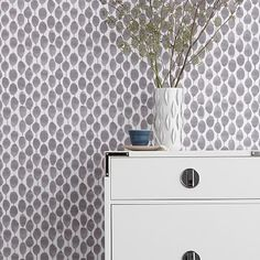 murphy bed opening- Chasing Paper Wall Panels - Stamped Dot #westelm
