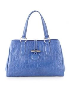 Shop Crocodile Embossed Toggle Satchel Bag, Cobalt Blue from Charles Jourdan at Neiman Marcus Last Call, where you'll save as much as on designer fashions. Tote Handbags, Purses And Handbags, Leather Satchel, Satchel Bag, Blue Bags, Cobalt Blue, Crocodile, Bag Accessories, Shoulder Bag