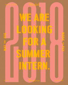 Seeking summer intern insta