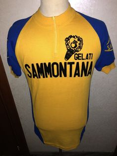 Maglia Vintage Shirt Jersey Cycling Ciclismo Eroica Gelati Sammontana Tg IV Sant | eBay