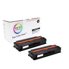 TCT Premium Compatible Toner Cartridge Replacement for Samsung Black High Yield Works with Samsung 2955 Printers Pages) - 2 Pack Toner Cartridge, Printers, True Colors, It Works, Packing, Samsung, Black, Bag Packaging, Black People