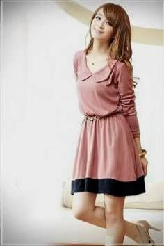 Awesome pink casual dress with sleeves 2017-2018 Check more at http://bestclotheshop.com/dresses-review/pink-casual-dress-with-sleeves-2017-2018/