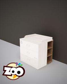 ZOO – nyitott polc a pelenkázó toldalék alá Toy Chest, Storage Chest, Stool, Furniture, Home Decor, Decoration Home, Room Decor, Home Furnishings, Home Interior Design