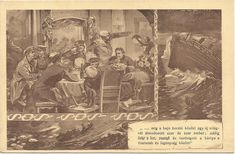 """Ultra-rareHungarian anti-alcohol postcard about Titanic. """"Between the ribs of the ship thousand and thousand people were dreaming about a new world; wine, champagne and card games were going on between the officers and the crew."""" And nobody's listening to the SOS."""