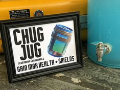 "Chug jug, legendary consumable beverage sign for your Fortnite birthday party drink station. measures 5"" X 7"", digital file ready for you to print. instant download."