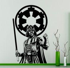 Arredamento camera da letto di Darth Vader Star Wars parete vinile Decal Skywalker Wall Sticker casa salone interno rimovibile adesivi personalizzati 18(dvr)