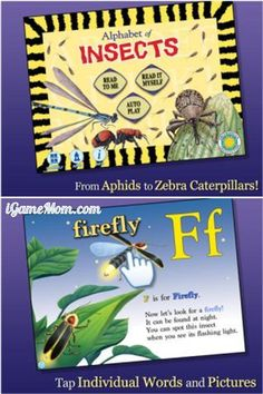 learn alphabet and insects in this one app by Smithsonian #kidsapps