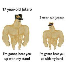 Funny Adult Memes, Stupid Memes, Funny Jokes, Jojo Anime, Jojo Memes, Best Waifu, Jojo Bizzare Adventure, Jojo Bizarre, Funny Comics
