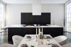Norema Kjøkken Radius Eik sort Sorting, Conference Room, Kitchens, Interior, Table, House, Furniture, Home Decor, Modern