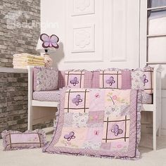 8-Piece Cotton Baby Crib Bedding Set  #Baby #Toddler #gear # #Boy #Girl #Feeding  #Nursing #Nursery  #Diapering #Accessories #AtHome #Bath #Bedding #Strollers #Decor #Play #Clothing #Shoes