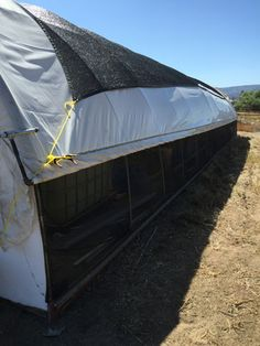 It just gets too hot in the summer in the hoop house. Here's the easy way we fixed the problem on the cheap with some easy flow-through hoop house venting. House Vents, Greenhouse Plans, Alternative Energy, Outdoor Gear, Tent, Hoop, Outdoor Furniture, Gardening, Diy