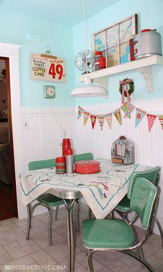 Super Cute Retro Kitchen Decor by Robb Restyle | Fun Kitchen Decor Idea!