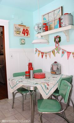 Retro Decorations For Home a mix of retro furniture vintage decorations and tropical accents give this room its Super Cute Retro Kitchen Decor By Robb Restyle Fun Kitchen Decor Idea