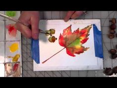 Watercolor Leaves 2 Ways! | Thefrugalcrafter's Weblog