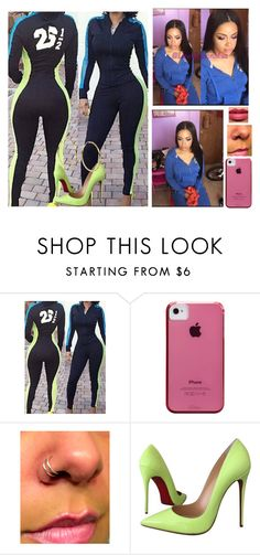 """I'm sexcoii 😩✅"" by saucinonyou999 ❤ liked on Polyvore featuring Case-Mate, Christian Louboutin and Sterling Essentials"
