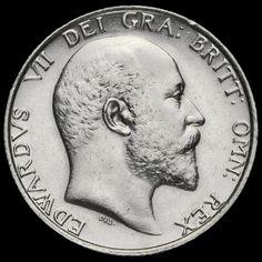 1906 Edward VII Silver Shilling, AEF / EF
