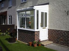 uPVC Porches: A Beautiful Porch for the Masses Upvc Porches, Front Porches, Side Porch, Lean To, Side Yards, House With Porch, Garage Doors, Front Doors, Mudroom