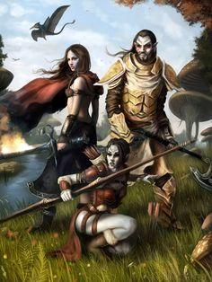 Morrowind Adventurers, by dennisfroehlichartworks