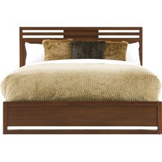 Update your master suite or guest room with in handsome style with this mahogany wood bed, showcasing under-the-bed storage drawers and a slated design.