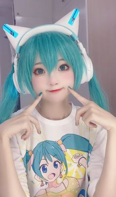 Kawaii Cosplay, Anime Cosplay Mädchen, Cute Cosplay, Cosplay Makeup, Amazing Cosplay, Halloween Cosplay, Best Cosplay, Cosplay Outfits, Vocaloid Cosplay