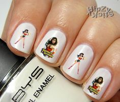 "20 ""Super Hero Wonder Woman""  Quality Nail Art Decals Water Slide/Transfer by HipZySticKy"