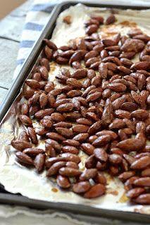 Roasted almonds by Janet & Greta Podleski Roasted Almonds, Beans, Appetizers, Snacks, Baking, Vegetables, Breakfast, Food, Toasted Almonds