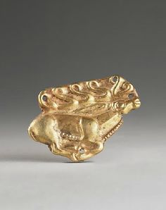 Scythian Gold Ornament of a Running Stag, 5th century BC