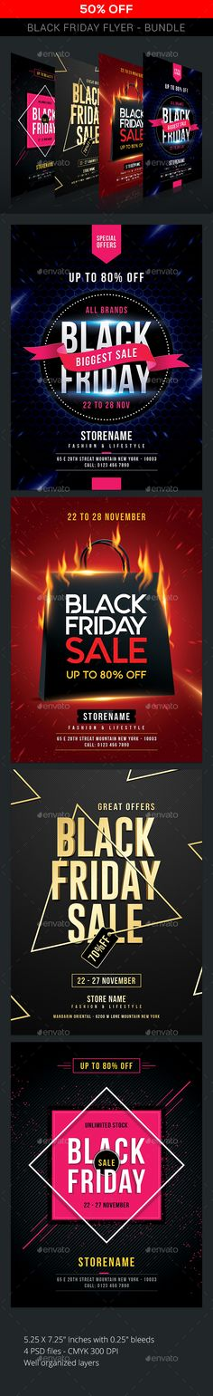 Buy Black Friday Sale - Bundle by sunilpatilin on GraphicRiver. Black Friday Sale – Bundle Black Friday Flyer is designed for all kind of events! The flyer is fully layered and orga. Event Flyer Templates, Menu Template, Christmas Flyer, Summer Poster, Text Tool, Event Flyers, Neon Party, Sale Flyer, New Years Sales