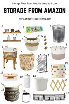 If your're looking for some gorgeous baskets, and storage solutions for every room of your home, check out this post full of options from Amazon Decorative Storage Bins, Paper Storage, Craft Storage, Toy Storage, Storage Boxes, Storage Ideas, Handmade Home Decor, Home Decor Items, Diy Home Decor