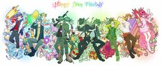 Tags: Giggles (HTF), Happy Tree Friends, Splendid (HTF), Flippy, Lumpy, Petunia (HTF), Nutty, Handy, Cro-Marmot, Lifty, Shifty, Uniikura, PNG Conversion